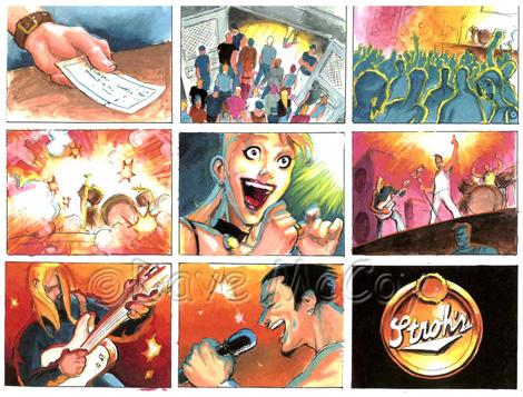 Dave McCoy Illustration - Storyboards for Television Commercial - commercial storyboards