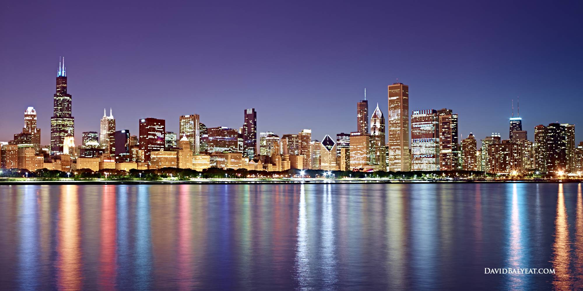 Seattle Washington In Fall City Night Wallpaper Structural Expressionism Chicago David Balyeat