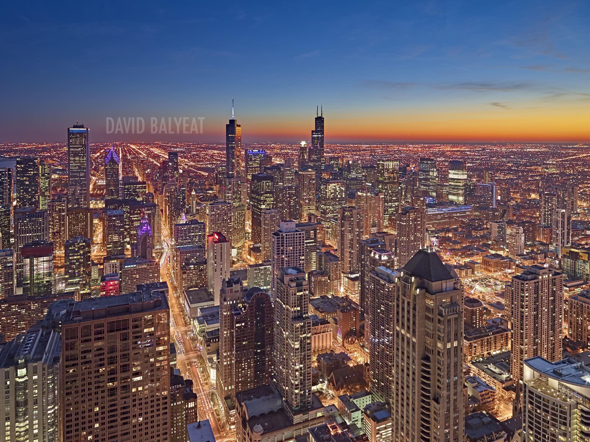 Seattle Washington In Fall City Night Wallpaper Chicagoland Chicago Skyline David Balyeat Photography