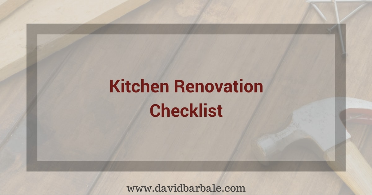 Kitchen Renovation Checklist Feature Image David Barbale - Kitchen Renovation Checklist