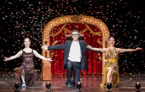"Ira Glass, Monica Bill Barnes & Co.""Three Acts, Two Dancers, One Radio Host"" 10/19/13 Granada Theatre presented by UCSB Arts & Lectures"