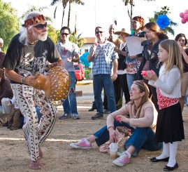 Man Playing Shaker/gourd - SB Symphony Percussion Fest - Dancing Drum 1/12/08 Casa de la Guerra
