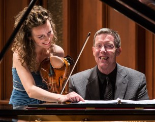 Camerata Pacifica - Katherine Leonard & Warren Jones in rehearsal 5/17/13 Hahn Hall