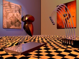 "Virtual Sculpture #3 ""The Virtual Gallery"""