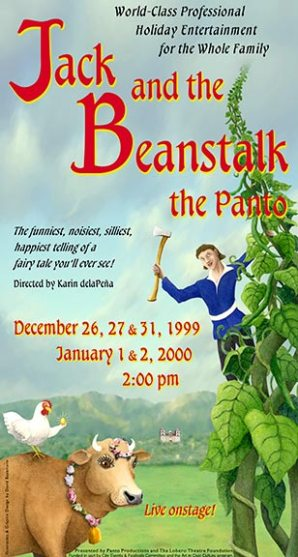 """Jack and the Beanstock, the Panto"" poster design - Santa Barbara Panto"