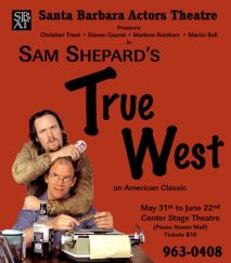 """True West"" flyer - Santa Barbara Actors Theatre"