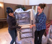 Prop Master Lisa Coto and Assitant Stage Manager Jennifer Marco