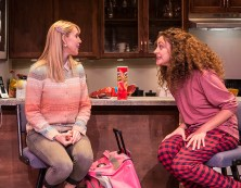 "Stephanie Burden (Melody), Cory Kahane (Jonah), Eden Malyn (Daphna) and Adam Silver (Liam) - Ensemble Theatre Co. ""Bad Jews"" 4/13/16 Alhecama Theatre"