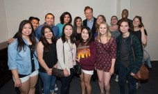 "Conan O'Brien and UCSB students in the Arlington Theater ""green room"" 4/16/16"