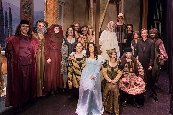"Maestro Breid and the whole cast of Opera Santa Barbara's ""Gianni Schicchi"" after the final performance."