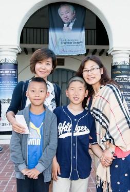 Families at Santa Barbara Chamber Orchestra concert 5/17/16 Lobero Theatre