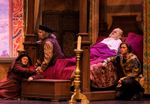 "Buoso Donati isn't too concerned about the family's mourning in Opera Santa Barbara's Giannin Schicchi"" 4/20/16 Granada Theatre"