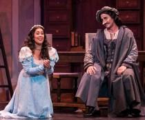 """The big aria: Lauretta (Monica Yunus) pleads with father Giannin Schicchi (Stephano de Peppo) in Opera Santa Barbara's Giannin Schicchi"""" 4/20/16 Granada Theatre"""