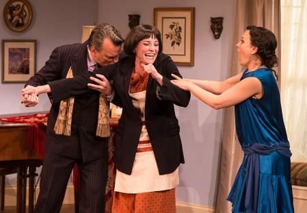 J. Paul Boehmer (Maurice), Paige Lindsey White (Julia Sterroll) & Julie Granata (Jane Banbury) - Ensemble Theatre Company 6/1/16 New Vic Theatre