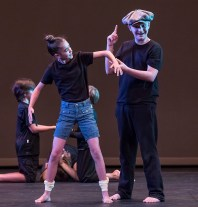 Gepetto is amazed his creation has come to life - Boxtales Theatre Co. Summer Camp 7/21/16 Marjorie Luke Theatre