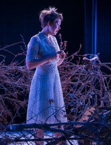 """Paige Tautz as Laura in """"The Glass Menagerie"""" - Lit Moon Theatre Company 8/31/16 Porter Theater, Westmont College"""