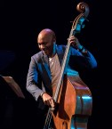 Reuben Rogers during one of his super solos with the Joey Alexander Trio - UCSB Arts & Lecture 10/16/16 Campbell Hall