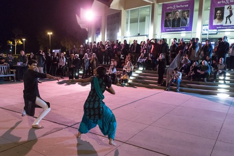 Members of Dhadkan demonstrate Bhangra Indian folk dance - 11/1/16 Campbell Hall