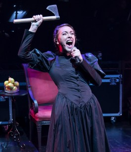 Katie Moya as Lizzie Borden - Out of the Box Theatre Co. 11/1/16 Center Stage Theater