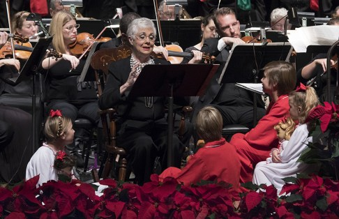 "Actor/singer Shirley Jones & her grandchildren - Santa Barbara Choral Society's ""Hallelujah Project 4"" 12/10/16 The Lobero Theatre"