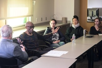 "Bill T. Jones ""conversation"" with UCSB students & Faculty 1/19/17 UCSB TDW 2517"