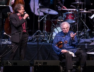 "Hankus Netsky and Itzhak Perlman making with jokes - ""In the Fiddler's House"" 20th Anniversary concert- UCSB Arts & Lectures 1/23/17 The GranadaTheatre"