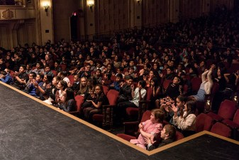 4th & 5th grade students applaud @ Santa Barba Symphony's Concert for Young People 1/27/17 the Granda Theatre