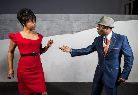 "Karole Foreman is Bess and Frank Lawson is Sportin' Life in Ensemble Theatre Company's ""Porgy and Bess"" 1/29/17 the New Vic Theatre"
