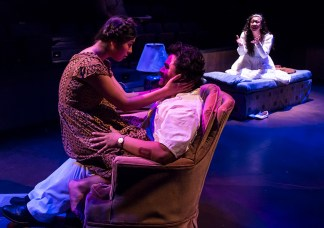 "Production photo of UCSB Theater's ""Lydia"""