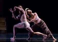 "Thomas Fant and Marika Kobayashi in Edgar Zendejas's new ""Rite of Spring"" - State Street ballet 2/18/17 The Granada Theatre"