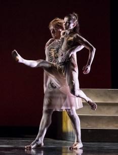 "John Piel and Deise Mendonça in Edgar Zendejas's new ""Rite of Spring"" - State Street ballet 2/18/17 The Granada Theatre"