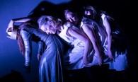 "Marie Ponce, Victoria Finlayson, Paige Tautz and Nina Sallinen - Lit Moon theatre Company's ""Richard III"" 3/7/17 Westmont College Black Box Theater"