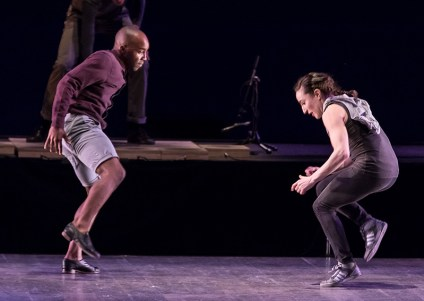 """Christopher Broughton and Ephrat """"Bounce"""" Asherie, Dorrance Dance - """"SOUNDspace"""" - UCSB Arts & Lectures 2/8/17 The Granada Theatre"""