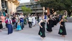 UCSB Arts & Lectures - Na Lei Huku I Ka Wekiu hula lesson 4/9/17 Campbell Hall