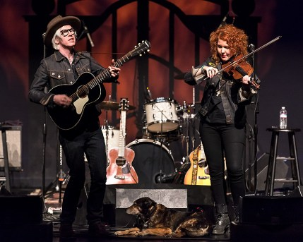Chris Masterson, Shakti and Eleanor Whitmore at Sings Like Hell 3/25/17 The Lobero Theatre