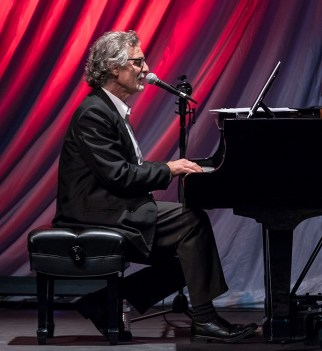 """Pianist & vocalist George Friedenthal performing at the Center for Successful Aging's """"With A Song In My Heart"""" 4/1/17 The Marjorie Luke Theatre"""