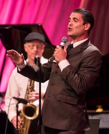 "Singer Luca Ellis belting out classic Sinatra - Center for Successful Aging's ""With A Song In My Heart"" 4/1/17 The Marjorie Luke Theatre"
