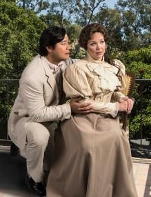 "Karen Wolverton (Magda) & Adam Diegel (Ruggero) - Opera Santa Barbara's ""La Rondine"" location publicity photo 4/13/17 Hope Ranch residence"