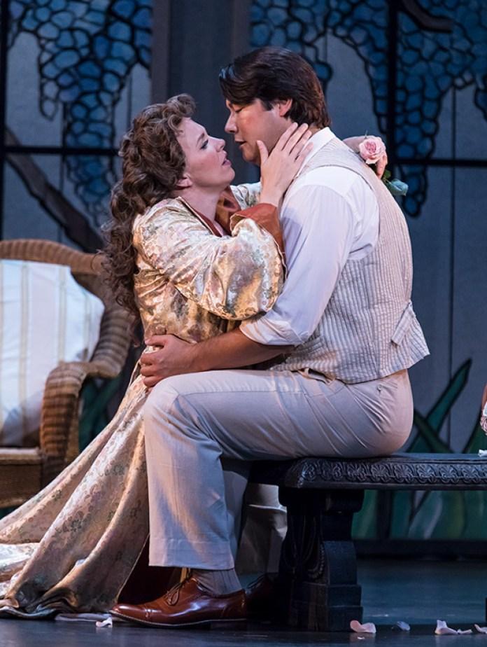 "Karen Wolverton (Magda) & Adam Diegel (Ruggero) - Opera Santa Barbara's ""La Rondine"" 4/26/17 The Granada Theatre"