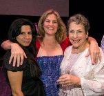 Dance writer Ninette Paloma, 2017 Danceworks artist-in-residence Kate Weare, force-of-nature Dianne Vapnek, DW founder 4/25/17 The Lobero Theatre