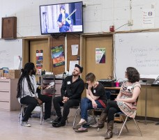 Roomful of Teeth showing Persian Classical singing to San Marcos High Vocal students 4/26/17