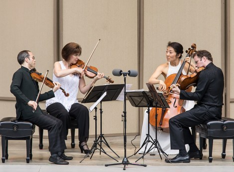 The Brentano String Quartet at the Ojai Music Festival 6/10/17 Libbey Bowl
