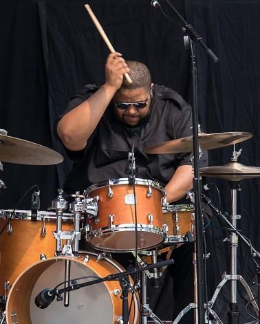 Tyshawn Sorey with the Vijay Iyer Sextet at the 2017 Ojai Music Festival 6/11/17 Libbey Bowl, Ojai, CA