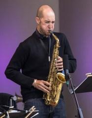 Saxophonist Stve Lehman with the Vijay Iyer Sextet at the 2017 Ojai Music Festival 6/11/17 Libbey Bowl, Ojai, CA