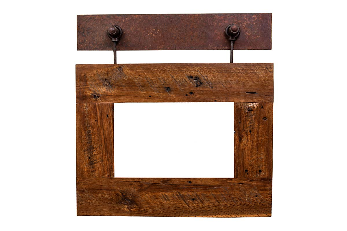 Glass Plate Hanger Barn Wood With Metal Plate Hanger Order 4416