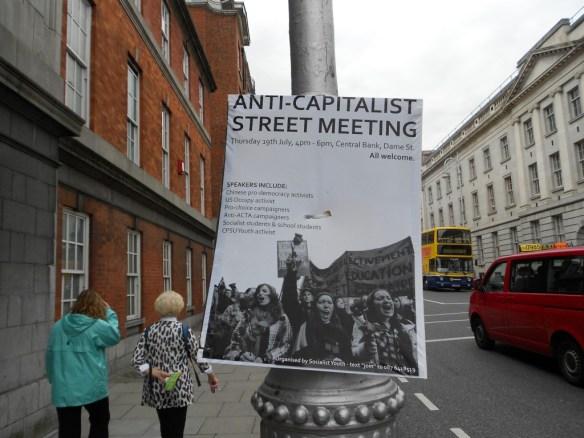 Socialist Protest Poster Dublin Ireland