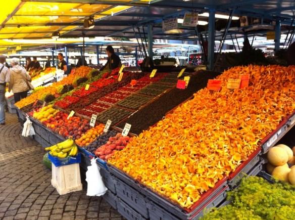 The orange stuff is local chanterelle mushrooms!