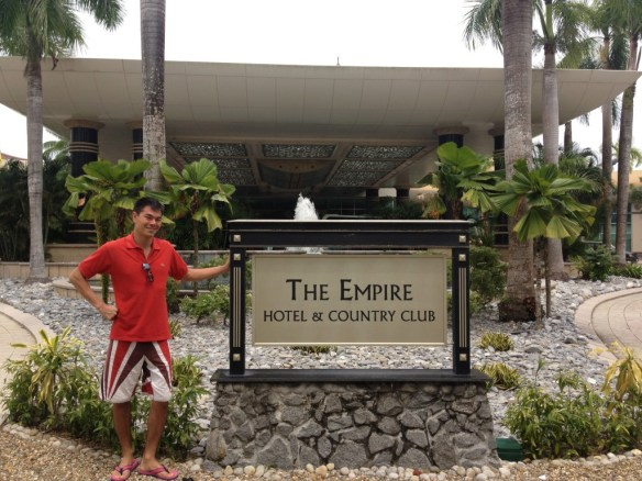 The grand entrance of the Empire Hotel