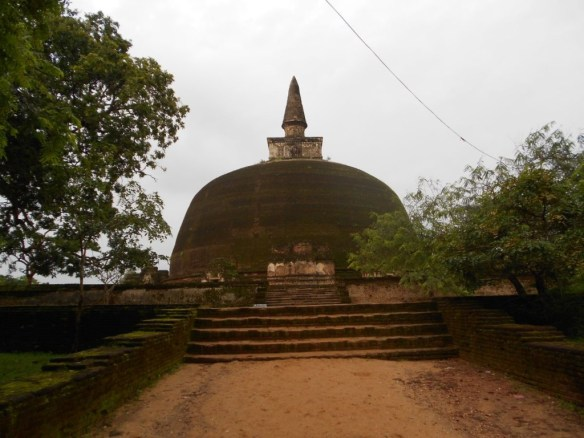 The fully brick stupa was built 1187 AD to 1196 AD.