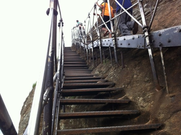 A bit of a daunting climb.